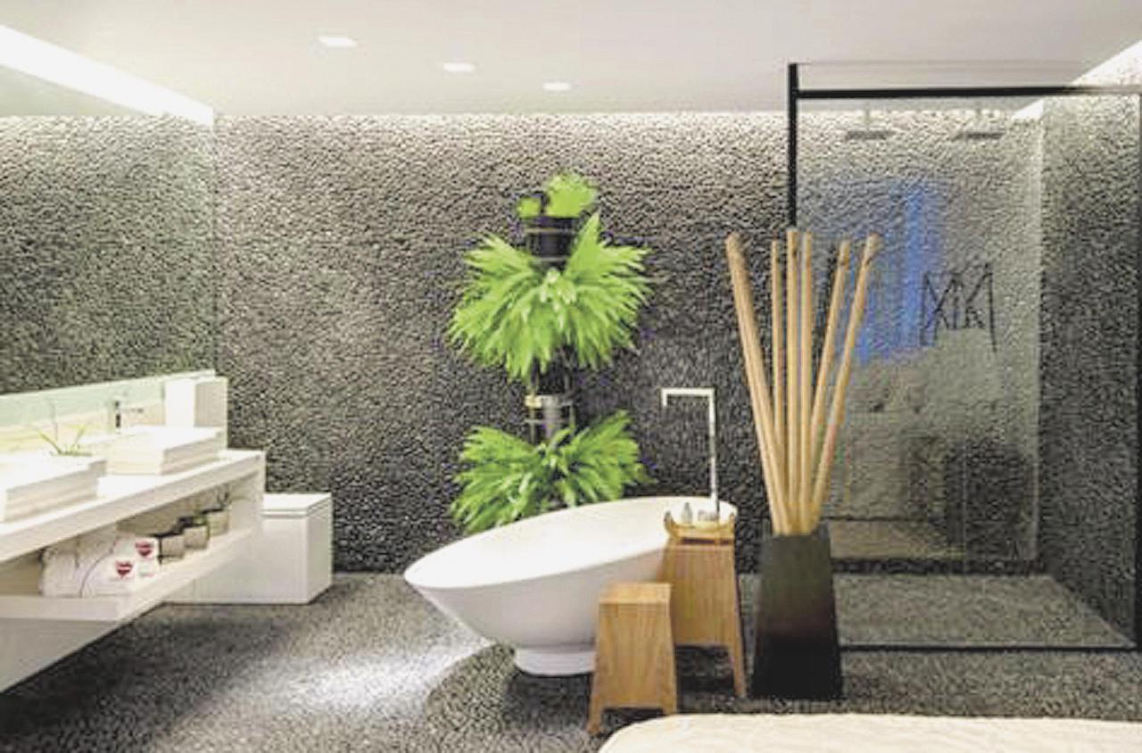 Pisos e revestimentos ganham destaque em decorações 22/12/13  #758E3D 1280x844 Acabamento Piso Banheiro