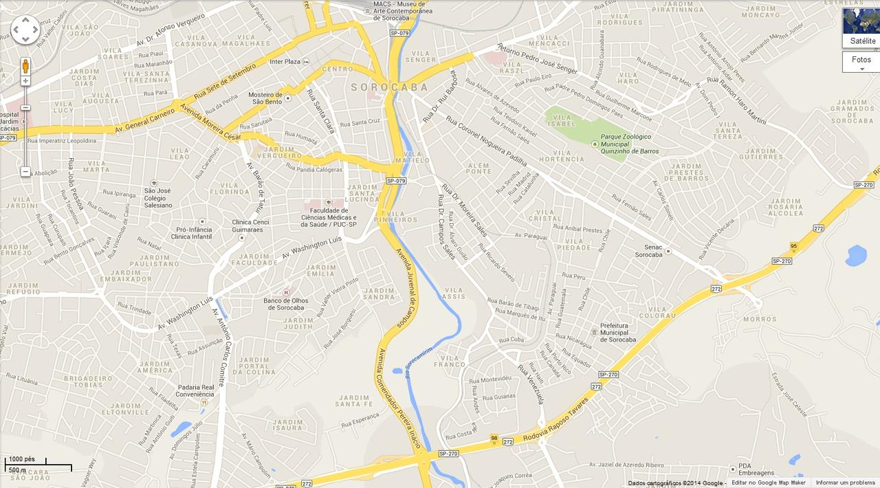 37842e2ed Mapa de 1941 revela antigo percurso do rio - 22/03/14 - SOROCABA E ...