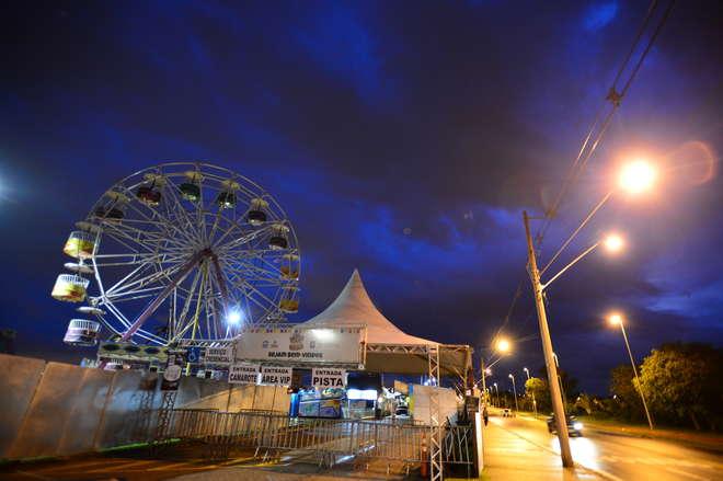 Festa está interdita desde domingo em função das chuvas - LUIZ SETTI/ARQUIVO JCS