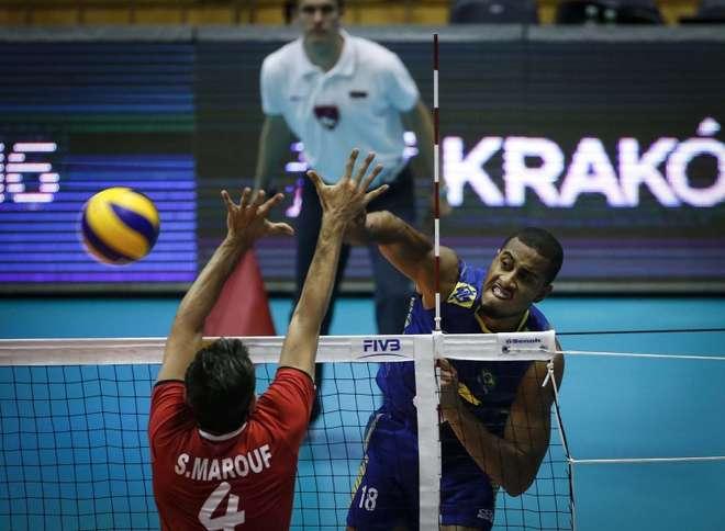 Brasil vence o Irã pela Liga Mundial e enfrenta a Bulgária