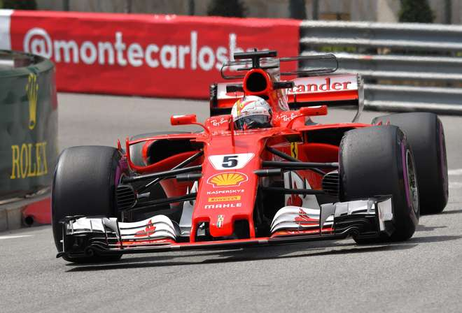 Sebastian Vettel da Ferrari- AFP  PASCAL GUYOT