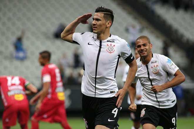 Balbuena comemora o seu gol na vitória do Corinthyians por 2 a 0- LUÍS MOURA  WPP  FOLHAPRESS