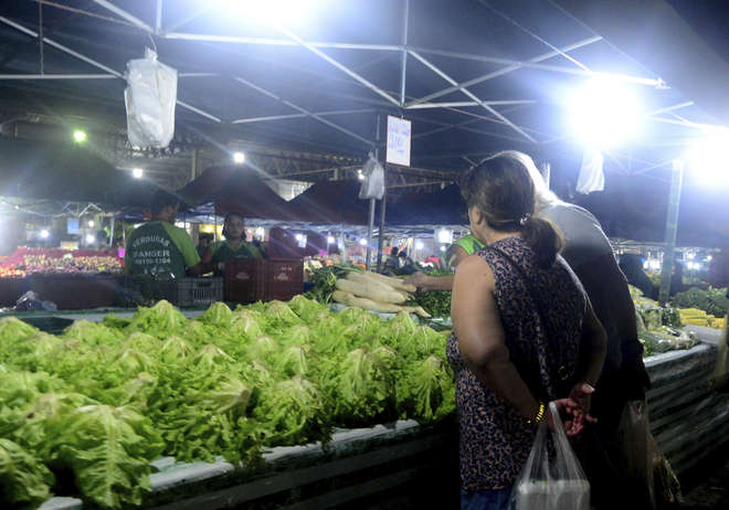 O Índice de preços da Ceagesp mostra a variação registrada em 150 itens de alimentos frescos entre frutas, legumes, verduras, pescado e diversos - FÁBIO ROGÉRIO / ARQUIVO JCS