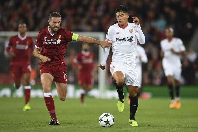 Liverpool e Sevilla estrearam com empate em 2 a 2 no grupo E da Liga dos Campeões  - AFP
