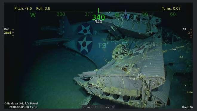 Encontrados destroços do porta-aviões USS Lexington, afundado durante a 2ª Guerra