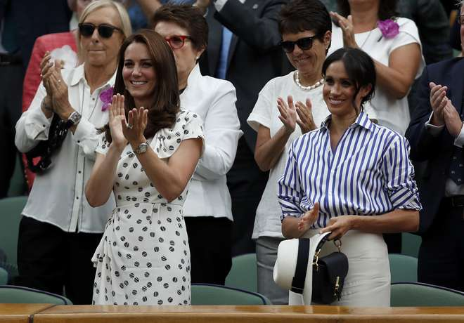 As duquesas de Cambridge e Sussex chegarem juntas - AFP / POOL / Nic BOTHMA